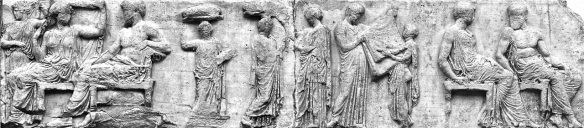 Peplos Frieze scene bw